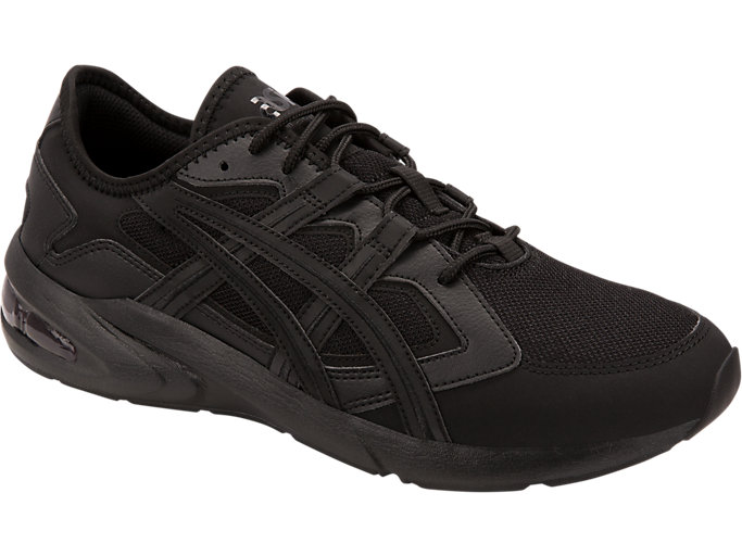 Front Right view of GEL-KAYANO 5.1, BLACK/BLACK