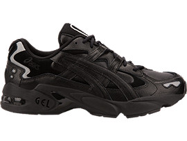 Right side view of GEL-KAYANO 5 OG, BLACK/BLACK