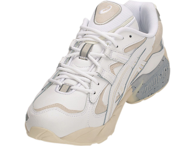 Front Left view of GEL-KAYANO™ 5 OG, WHITE/WHITE