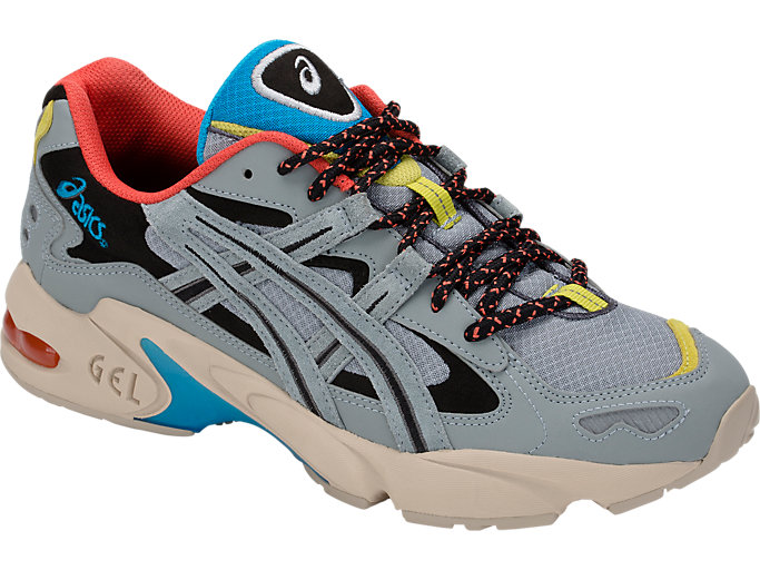 Front Right view of GEL-KAYANO 5 OG, STONE GREY/STONE GREY