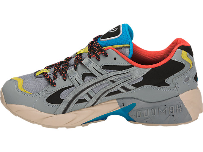 Left side view of GEL-KAYANO 5 OG, STONE GREY/STONE GREY
