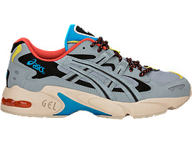 Right side view of GEL-KAYANO 5 OG, STONE GREY/STONE GREY