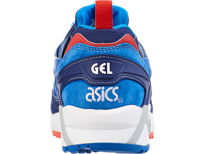 Back view of ASICS X Mita GEL-Kayano Trainer, INDIGO BLUE/DIRECTOIRE BLUE
