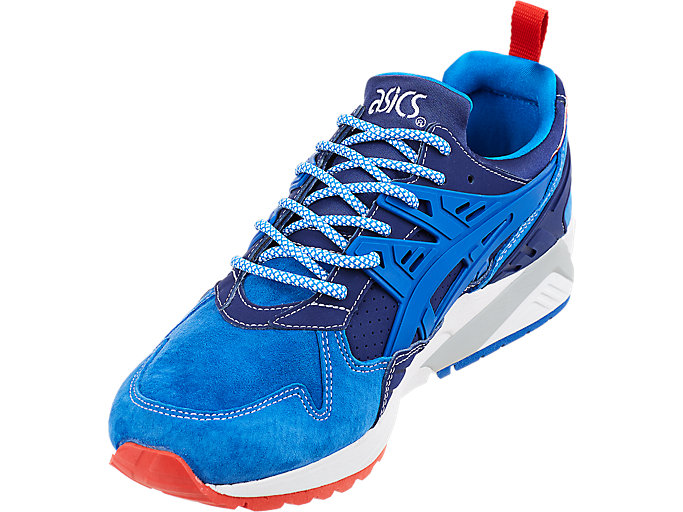 Front Left view of ASICS X Mita GEL-Kayano Trainer, INDIGO BLUE/DIRECTOIRE BLUE