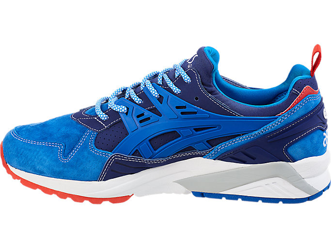 Left side view of ASICS X Mita GEL-Kayano Trainer, INDIGO BLUE/DIRECTOIRE BLUE