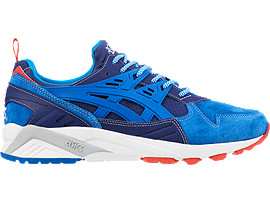 Right side view of ASICS X Mita GEL-Kayano Trainer, INDIGO BLUE/DIRECTOIRE BLUE
