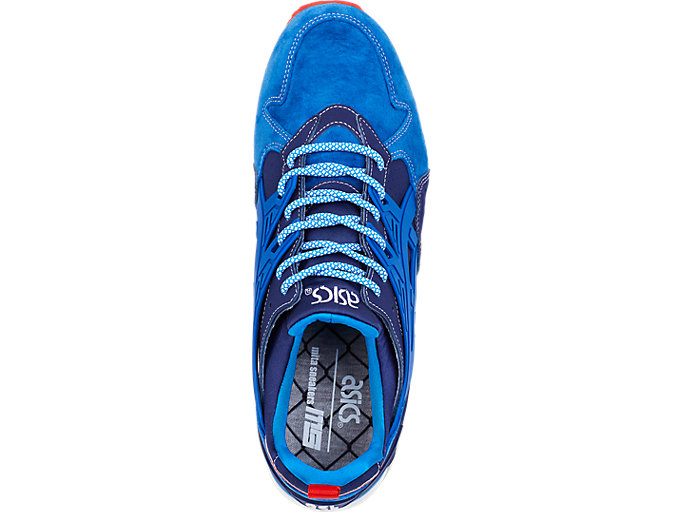 Top view of ASICS X Mita GEL-Kayano Trainer, INDIGO BLUE/DIRECTOIRE BLUE