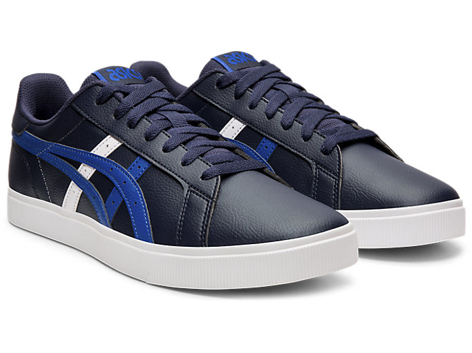 Front Right view of CLASSIC CT, MIDNIGHT/ASICS BLUE