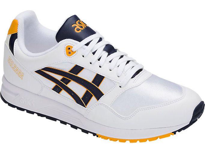 Front Right view of GEL-SAGA, WHITE/MIDNIGHT