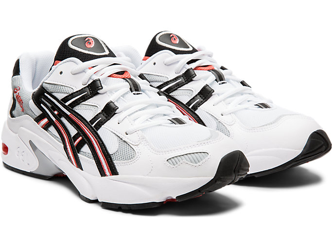 Front Right view of GEL-KAYANO 5 OG, WHITE/BLACK
