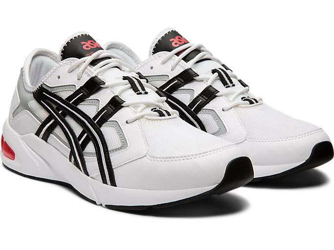 Front Right view of GEL-KAYANO 5.1, WHITE/BLACK