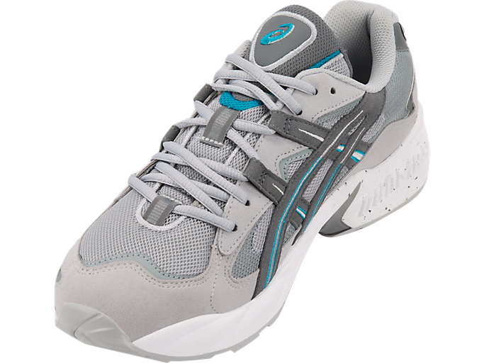 Front Left view of GEL-KAYANO 5 OG, MID GREY/STEEL GREY