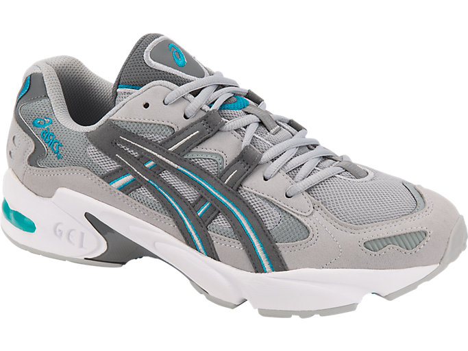 Front Right view of GEL-KAYANO 5 OG, MID GREY/STEEL GREY