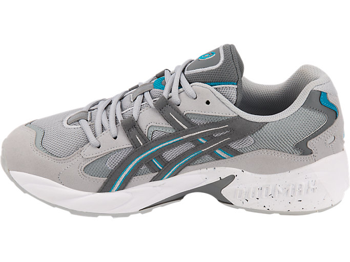 Left side view of GEL-KAYANO 5 OG, MID GREY/STEEL GREY