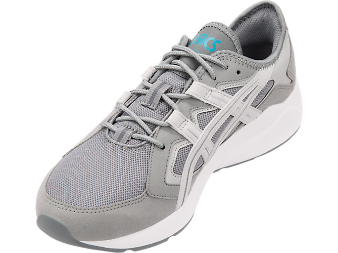 Front Left view of GEL-KAYANO 5.1, STONE GREY/GLACIER GREY