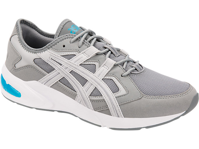 Front Right view of GEL-KAYANO 5.1, STONE GREY/GLACIER GREY