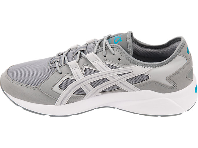 Left side view of GEL-KAYANO 5.1, STONE GREY/GLACIER GREY