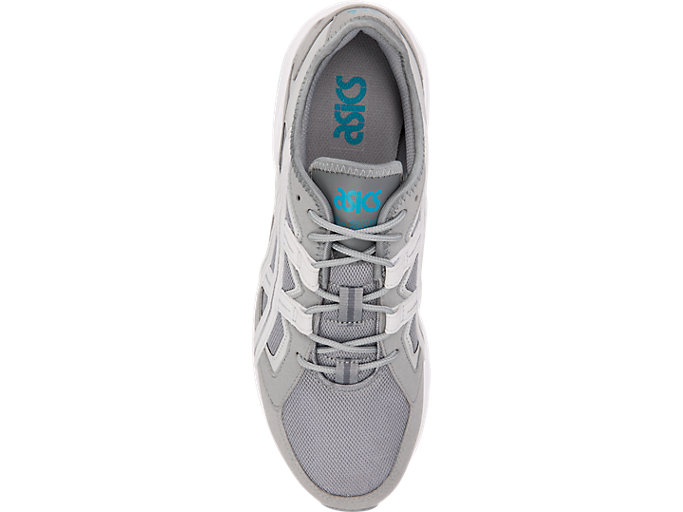 Top view of GEL-KAYANO 5.1, STONE GREY/GLACIER GREY