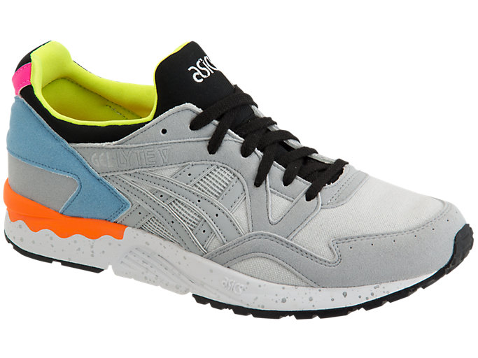 Front Right view of GEL-LYTE V, MID GREY/MID GREY