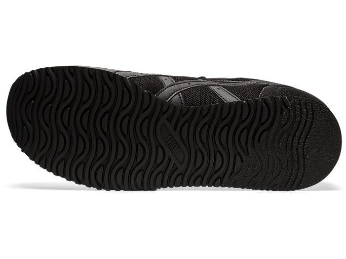 Bottom view of TIGER RUNNER, BLACK/BLACK