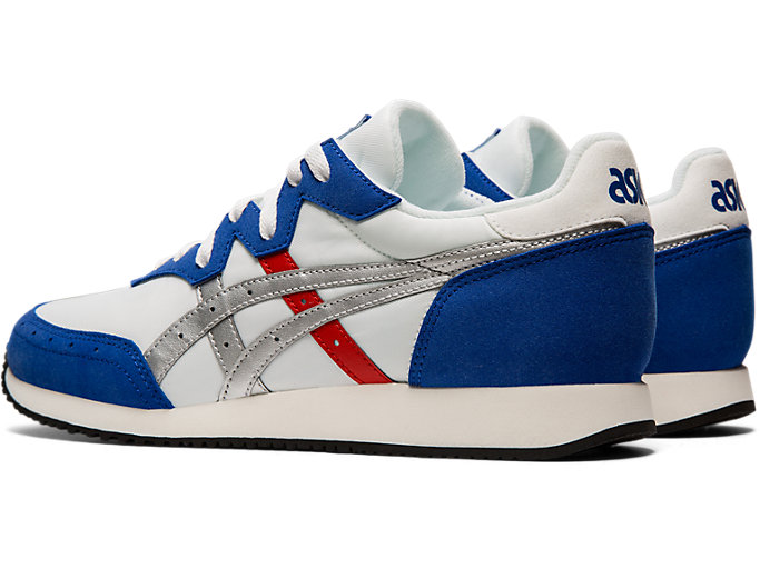 Front Left view of TARTHER™ OG, WHITE/ASICS BLUE