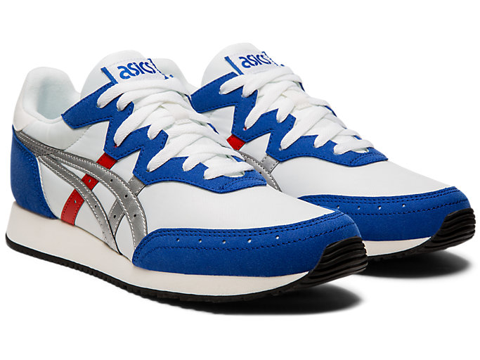 Front Right view of TARTHER™ OG, WHITE/ASICS BLUE