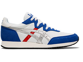 Right side view of TARTHER OG, WHITE/ASICS BLUE