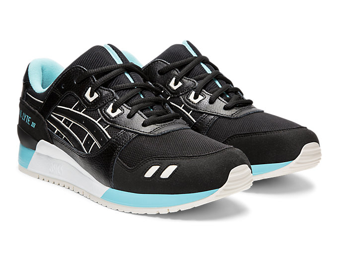 Front Right view of GEL-LYTE™ III, BLACK/BLACK