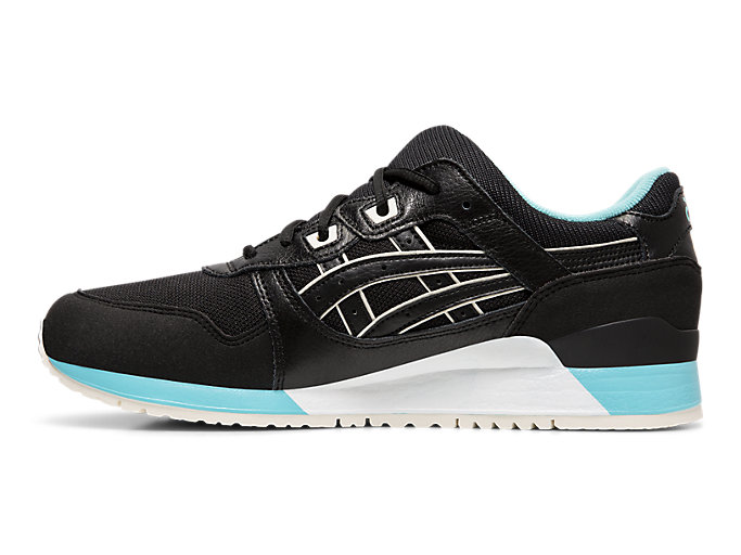Left side view of GEL-LYTE™ III, BLACK/BLACK