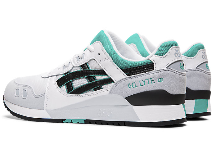 Front Left view of GEL-LYTE™ III, WHITE/BLACK