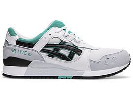 Right side view of GEL-LYTE III, WHITE/BLACK