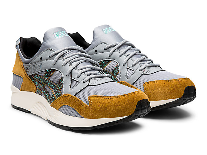 Front Right view of GEL-LYTE V, PIEDMONT GREY/BLACK