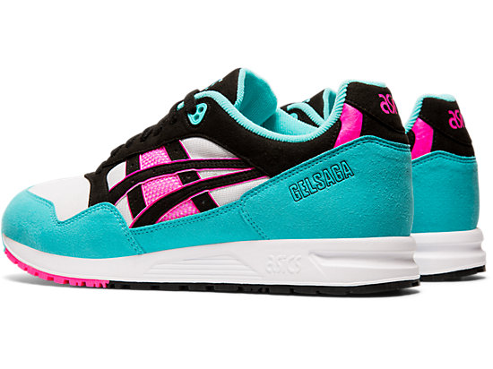 GEL-SAGA WHITE/BLACK/CYAN
