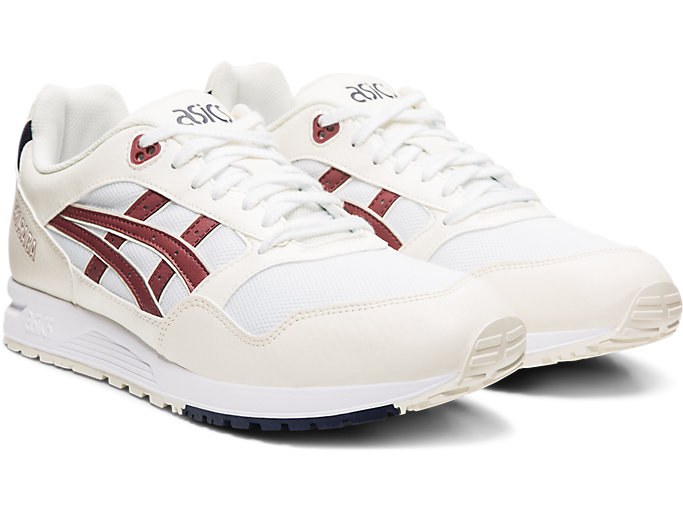 Front Right view of GELSAGA™, WHITE/BRISKET RED