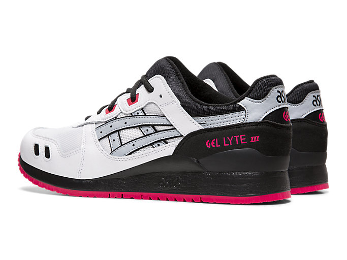 Front Left view of GEL-LYTE™ III, WHITE/PIEDMONT GREY