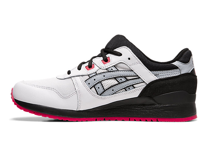 Left side view of GEL-LYTE™ III, WHITE/PIEDMONT GREY