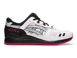 Right side view of GEL-LYTE III, WHITE/PIEDMONT GREY