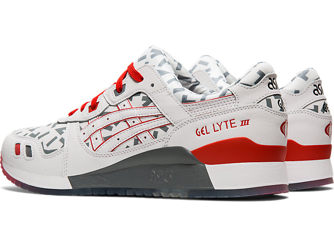 Front Left view of GEL-LYTE™ III, WHITE/WHITE