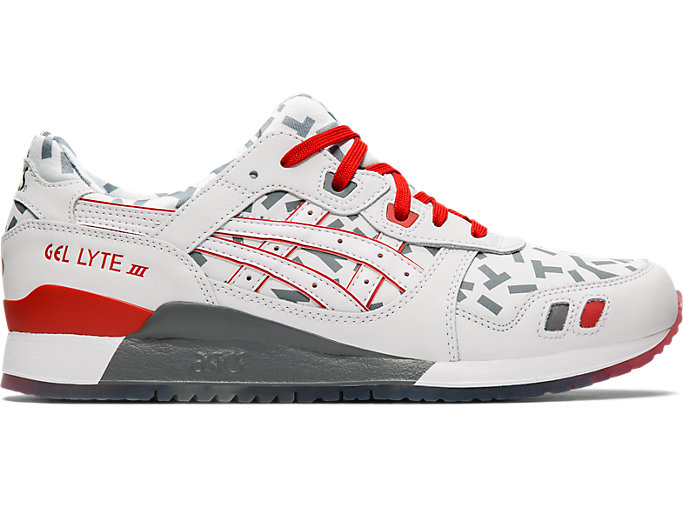 Right side view of GEL-LYTE™ III, WHITE/WHITE