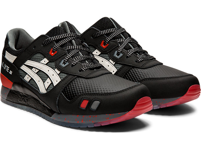 Front Right view of GEL-LYTE™ III, BLACK/WHITE