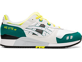 Right side view of GEL-LYTE III, WHITE/ YELLOW
