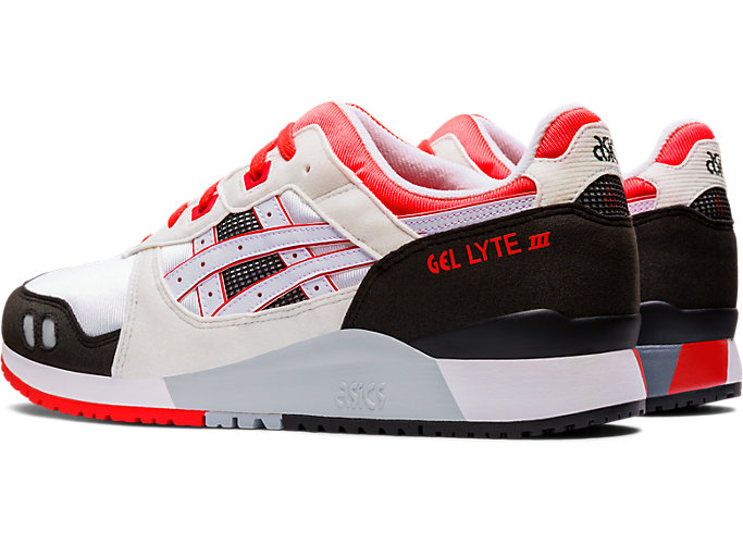 Front Left view of GEL-LYTE III OG, WHITE/FLASH CORAL