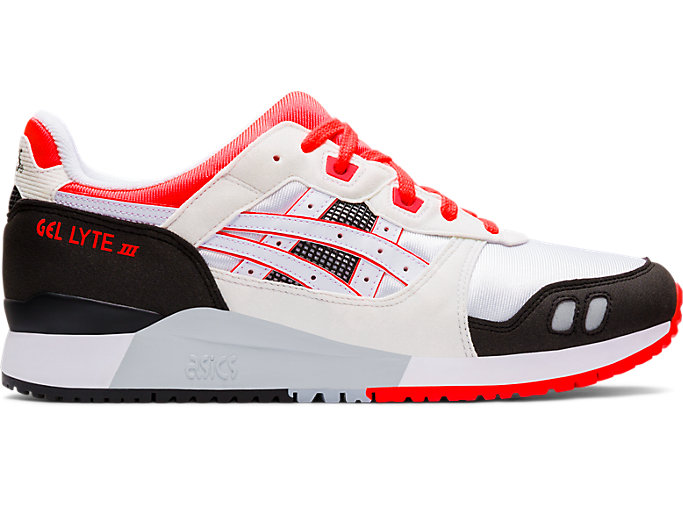 Right side view of GEL-LYTE III OG, WHITE/FLASH CORAL