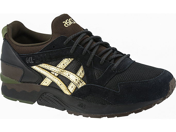 Front Right view of GEL-LYTE V, BLACK/PURE GOLD