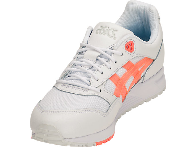 Front Left view of GEL-SAGA, WHITE/SUNCORAL