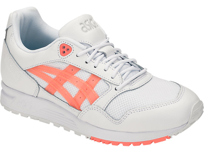 Front Right view of GEL-SAGA, WHITE/SUNCORAL