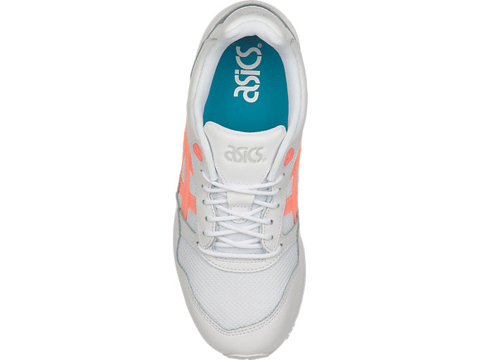Top view of GEL-SAGA, WHITE/SUNCORAL