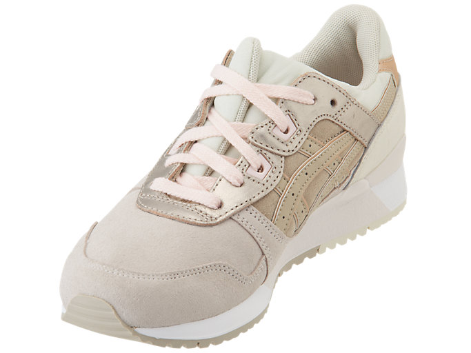 Front Left view of GEL-LYTE III, BLUSH/FEATHER GREY