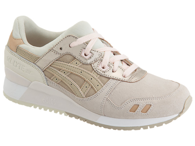 Front Right view of GEL-LYTE III, BLUSH/FEATHER GREY