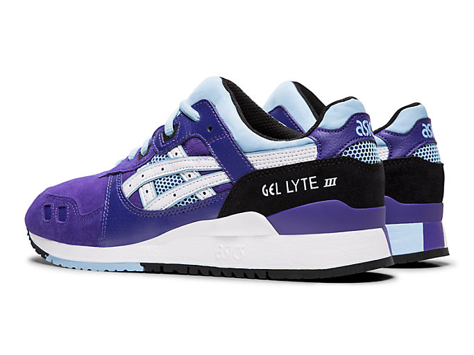 Front Left view of GEL-LYTE™ III, GENTRY PURPLE/WHITE
